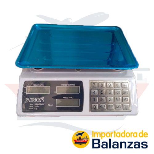 Balanza Digital Comercial Patrick's ACS-826BT de 30 Kilos
